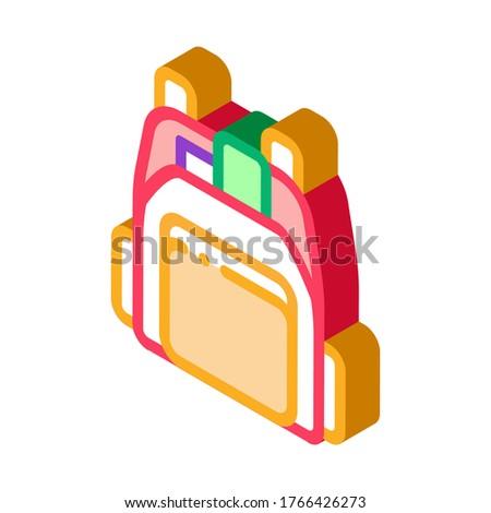 Emberi bolt hátizsák izometrikus ikon vektor Stock fotó © pikepicture