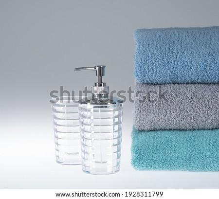 rosa · sabão · garrafa · colorido · toalhas - foto stock © tetkoren