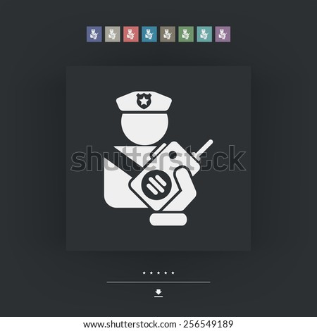 przystojny · policji · człowiek · portret · zawodowych · policjant - zdjęcia stock © leonido