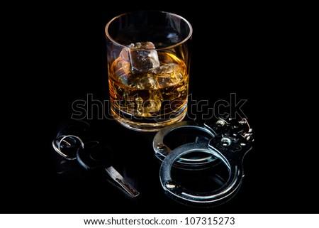 Glas whiskey zwarte partij Stockfoto © wavebreak_media