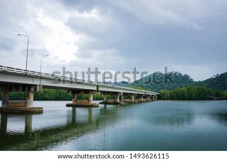 bridge over river in park Stock photo © compuinfoto