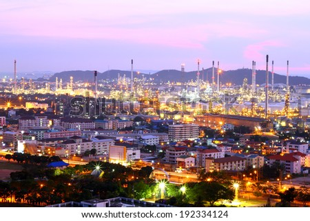 oil refinery at twilight map ta phut industrial estate rayong t stock photo © rufous
