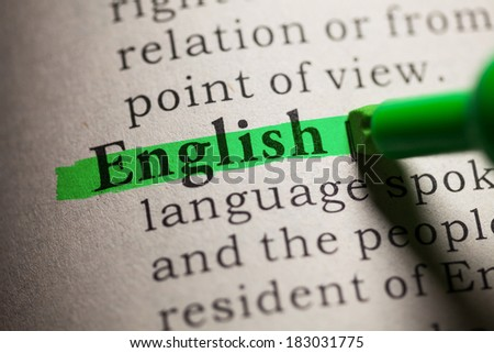 The word dictionary highlighted in a dictionaryThe word dictionary highlighted in a dictionary Stock photo © sqback