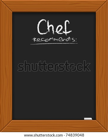 menu recommendations on blackboard with frame illustration desig Stock photo © alexmillos