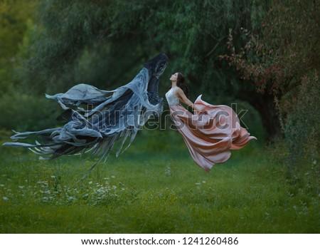 浪漫 哥特式 女孩 紫色 黑色 萬聖節 商業照片 © Elisanth