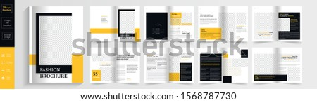vector beautiful 16 collection template colorful brochure design stock photo © bharat