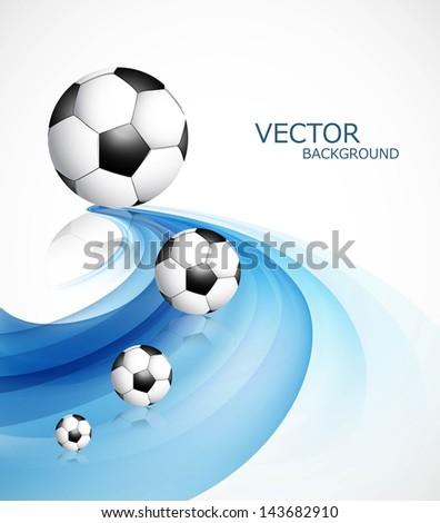 Streszczenie piłka nożna refleksji niebieski kolorowy fali Zdjęcia stock © bharat