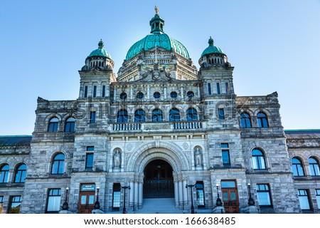 Vancouver Statue Provincial Capital Legislative Buildiing Victor Stock photo © billperry