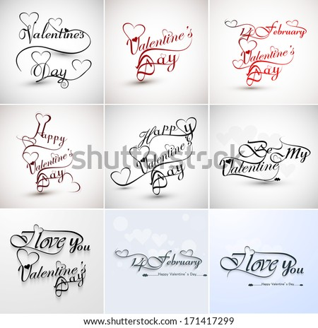 Mooie 14 stijlvol schoonschrift tekst ontwerp Stockfoto © bharat
