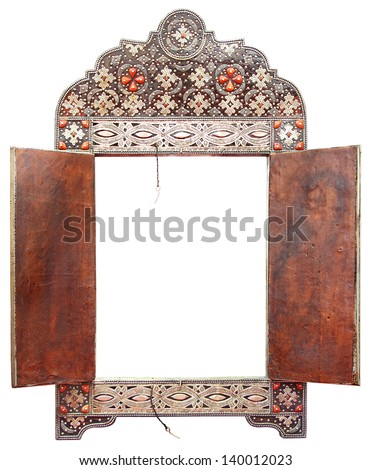 background frame with precious stones in the shape of a circle Stock photo © yurkina
