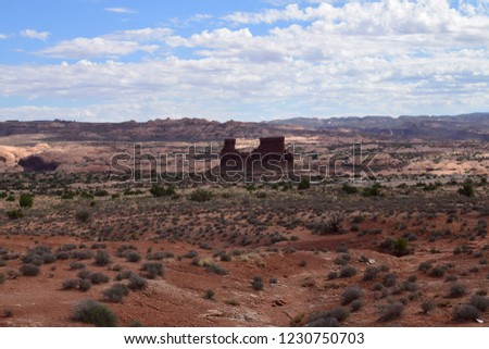 Sheep Rock Tower of Babel Rock Formations Canyon Arches National Stock photo © billperry