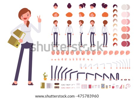 Set of Cartoon Businesswoman Character for Your Design or Aanima Stock photo © Voysla