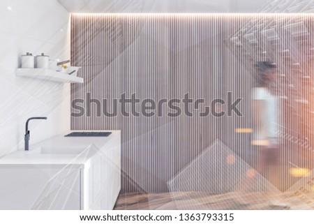美少女 キッチン 美しい 小さな ブロンド 女性 ストックフォト © restyler