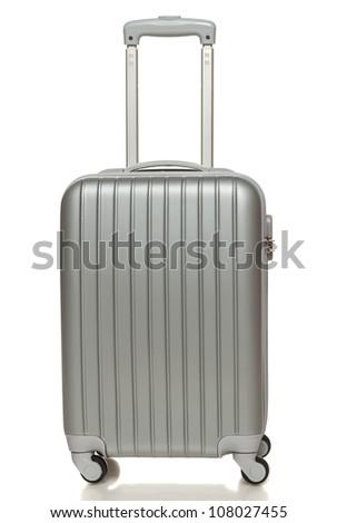 Görmek gümüş seyahat bavul ayakta Stok fotoğraf © rufous