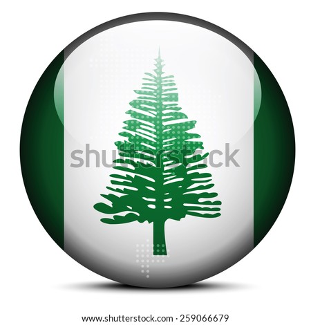 map with dot pattern on flag button of territory norfolk island stock photo © istanbul2009