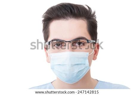 стоматолога хирургические маски очки глядя камеры стоматологических Сток-фото © wavebreak_media