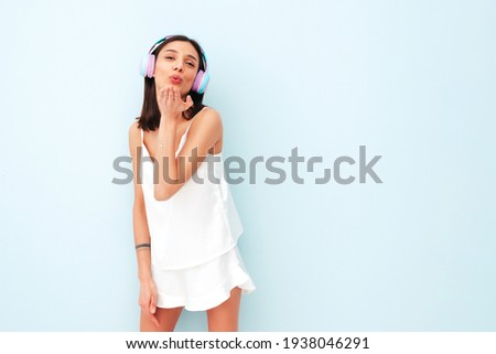 Beautiful and sexy woman in pajamas Stock photo © bartekwardziak