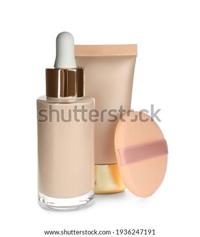Folyadék smink alap cső izolált fehér Stock fotó © tetkoren