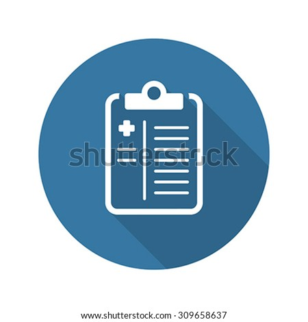 Medical History and Medical Services Icon. Flat Design. Long Sha Stock photo © WaD
