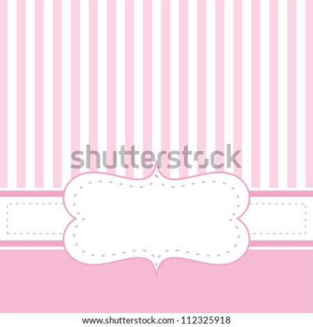 vintage baby shower invitation card with ornate elegant retro ab stock photo © morphart