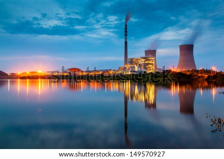 Thermal power stations and field Stock photo © pedrosala