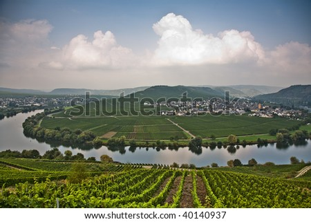 world famous sinuosity at the river Mosel near Trittenheim with  Stock photo © meinzahn