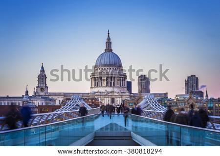 Londres vue rivière thames cathédrale ville Photo stock © photocreo