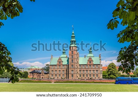 Rosenborg Castle, build by King Christian IV in Copenhagen, Denm Stock photo © vladacanon