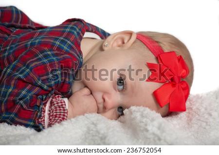 blijde · baby · jongen · lachend · exemplaar · ruimte - stockfoto © victoria_andreas