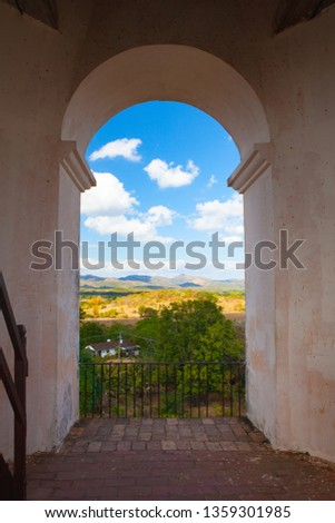 View from the top Manaca Iznaga old slavery tower near Trinidad, Stock photo © CaptureLight