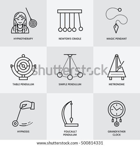 вектора · линия · икона · маятник · колыбель · таблице - Сток-фото © nadiinko