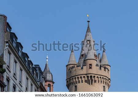 Eschenheimer Turm (Eschenheim Tower) was a city gate, part of la Stock photo © meinzahn