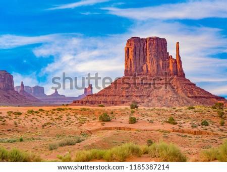 kameel · reus · zandsteen · formatie · vallei - stockfoto © meinzahn