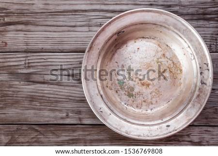 vintage · tafelgerei · metaal · oude · stijl · selectieve · aandacht - stockfoto © yelenayemchuk