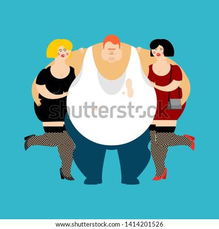 Szerencsés kövér fickó lányok férfi nők Stock fotó © popaukropa