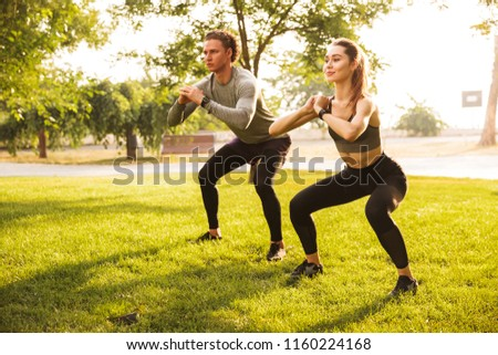 man doing sit ups in park Stock photo © IS2