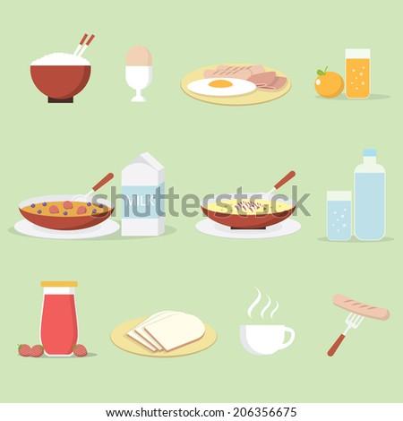 Arroz jugo de fruta desayuno alimentos saludables alimentos fondo Foto stock © MaryValery
