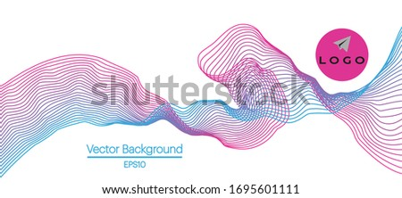 Abstract geometrical wave form . Audio blur and lines structure. Stock photo © anadmist