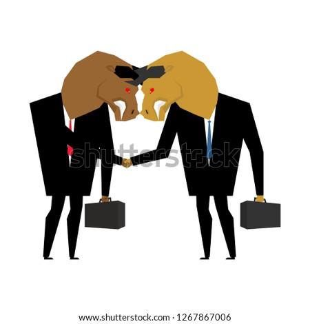 Empresário aperto de mão negócio negociações escritório projeto Foto stock © MaryValery