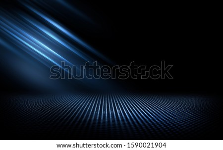Black abstract background with blue lines, neon grid with reflections, vector illustration Stock photo © kurkalukas