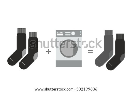 Black socks and a washing machine. Shades of gray, different soc Stock photo © popaukropa