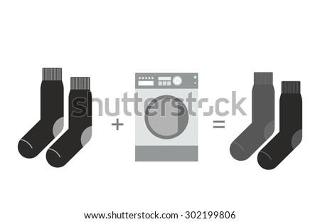 Zwarte sokken wasmachine grijs verschillend wassen Stockfoto © popaukropa