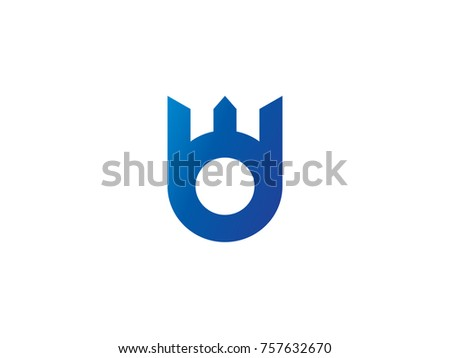 Carta logotipo abstrato coroa projeto criador Foto stock © taufik_al_amin