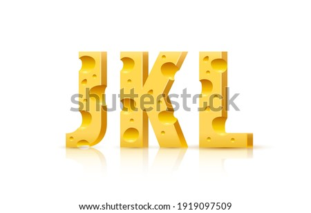 Cheese font. cheesy ABC. Food alphabet. Yellow letters milk prod Stock photo © popaukropa