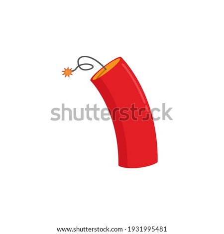 dynamite isolated explosion on white background vector illustr stock photo © popaukropa