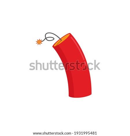 динамит изолированный взрыв белый вектора фон Сток-фото © popaukropa