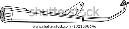Fiets motorfiets ingesteld motor racing uitputten Stockfoto © popaukropa