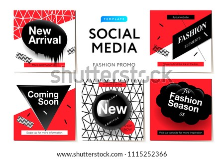 modern promotion square web banner coming soon for social media mobile apps elegant promo banner f stock photo © ikopylov
