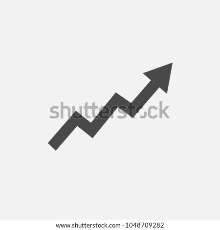 White arrow with Rise Up sign. Financial sign, rising trend. Vector illustration isolated on modern  stock photo © kyryloff
