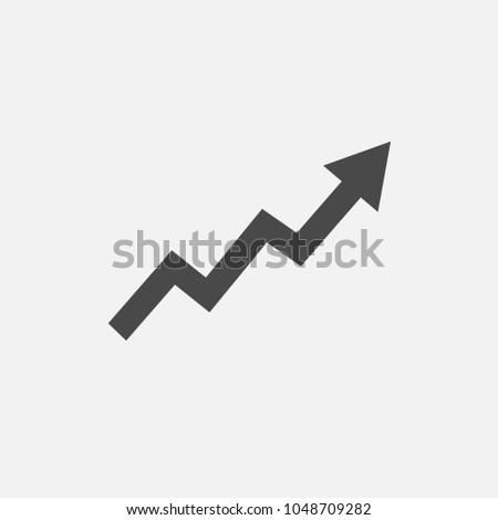 Witte pijl omhoog teken financiële Stockfoto © kyryloff